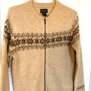 Abercrombie & Fitch Wool ZIP Up Sweater
